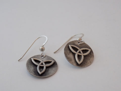 Sterling Silver Small Celtic Triquetra Earrings