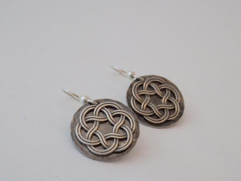 Sterling Silver Celtic Knot Circle Earrings