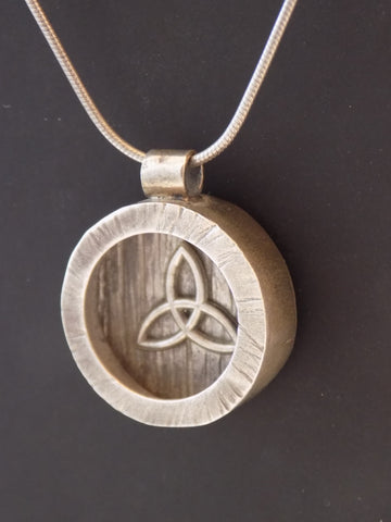 Sterling Silver Celtic Triquetra Shadow Necklace