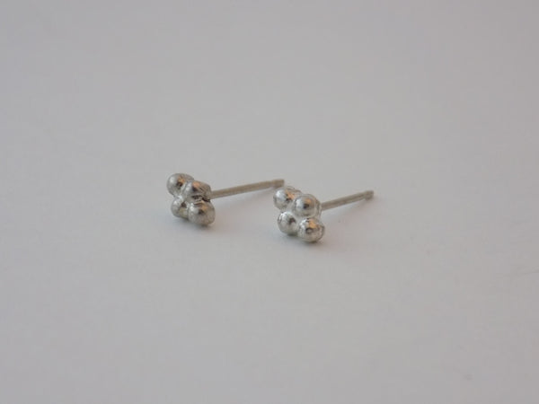 Tiny Argentium Silver Stud Earrings