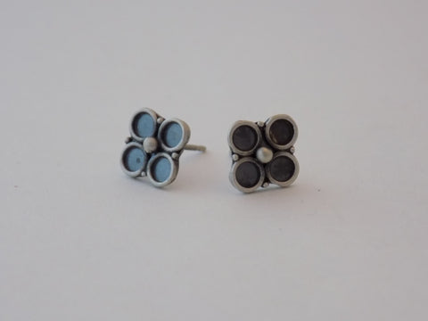 Flower Earrings in Argentium Silver