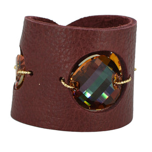 Copper Swarovski cuff