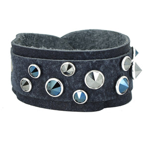 Denim Swarovski crystal cuff