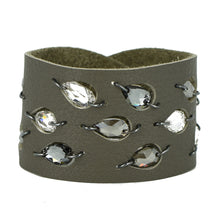Gray Diamond Leaf Swarovski cuff