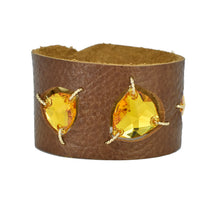 Sunflower Swarovski cuff