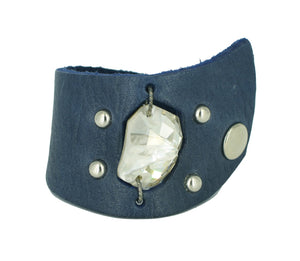 Navy Rock Swarovski crystal cuff