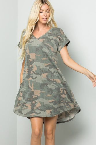 Hidden Feelings Camo Dress