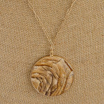 Load image into Gallery viewer, Brown Natural Stone Pendant Necklace