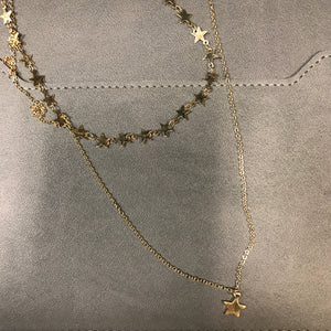 Jane Marie Long Layered Star Necklace