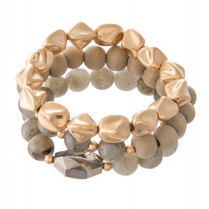 Grey Haze Bracelet Stack
