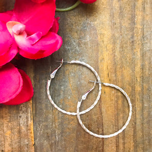 Twisted Up Hoop Earrings