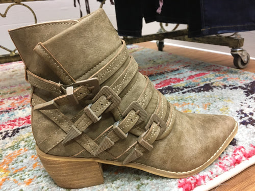 A Step Up Khaki Bootie