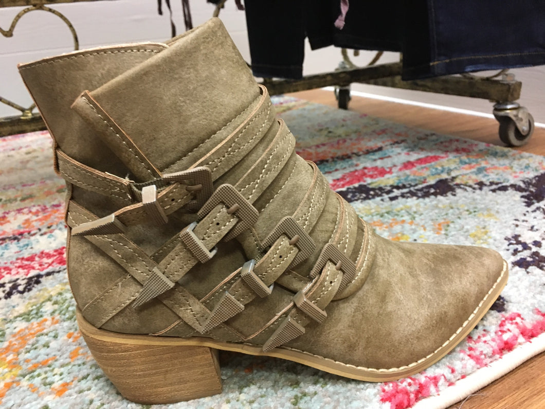 A Step Up- Khaki Bootie
