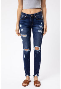 KanCan - Georgina Distressed Skinnies - KC5055KD