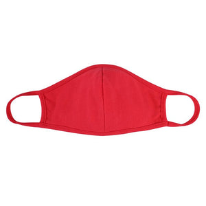 Mask - Solid Red w/ Nose Piece
