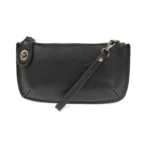 JOY - Smooth Python Mini Crossbody Wristlet Clutch