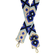 "Load image into Gallery viewer, JOY Guitar Strap 2"" Blue Multi"