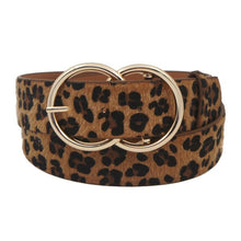 Load image into Gallery viewer, Leopard Double O Ring Belt