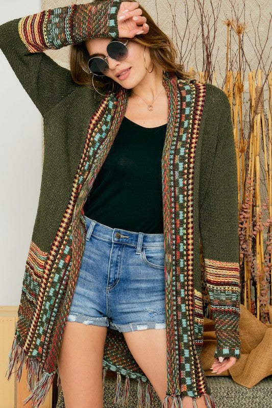Fireside Cardigan Sweater Olive
