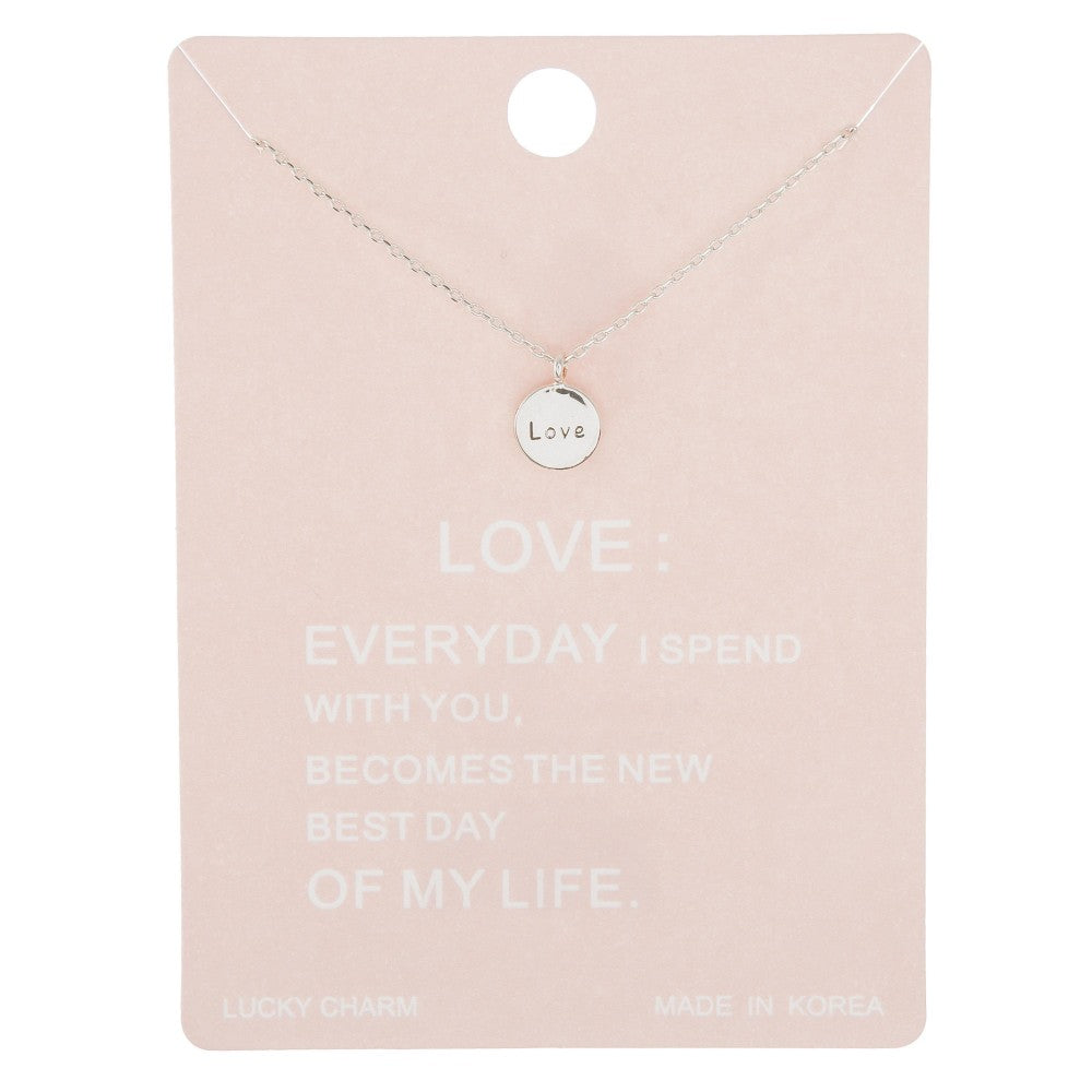 Dainty Line Love Necklace