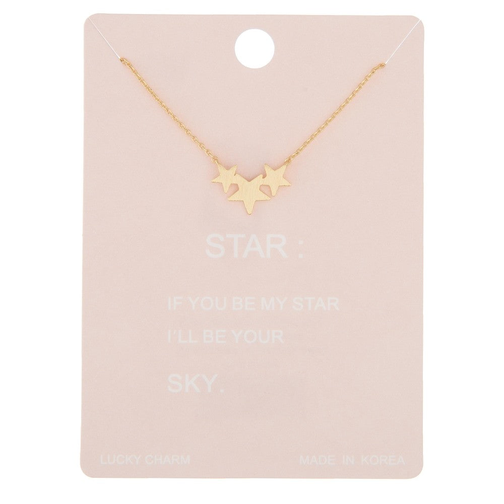 Dainty Line Star Cluster Necklace