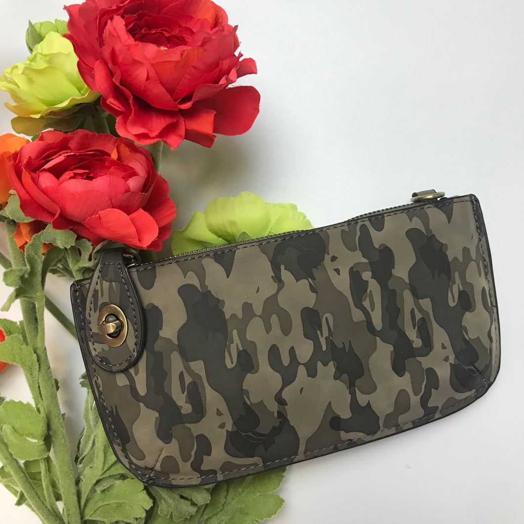 JOY - Camo Mini Crossbody Wristlet
