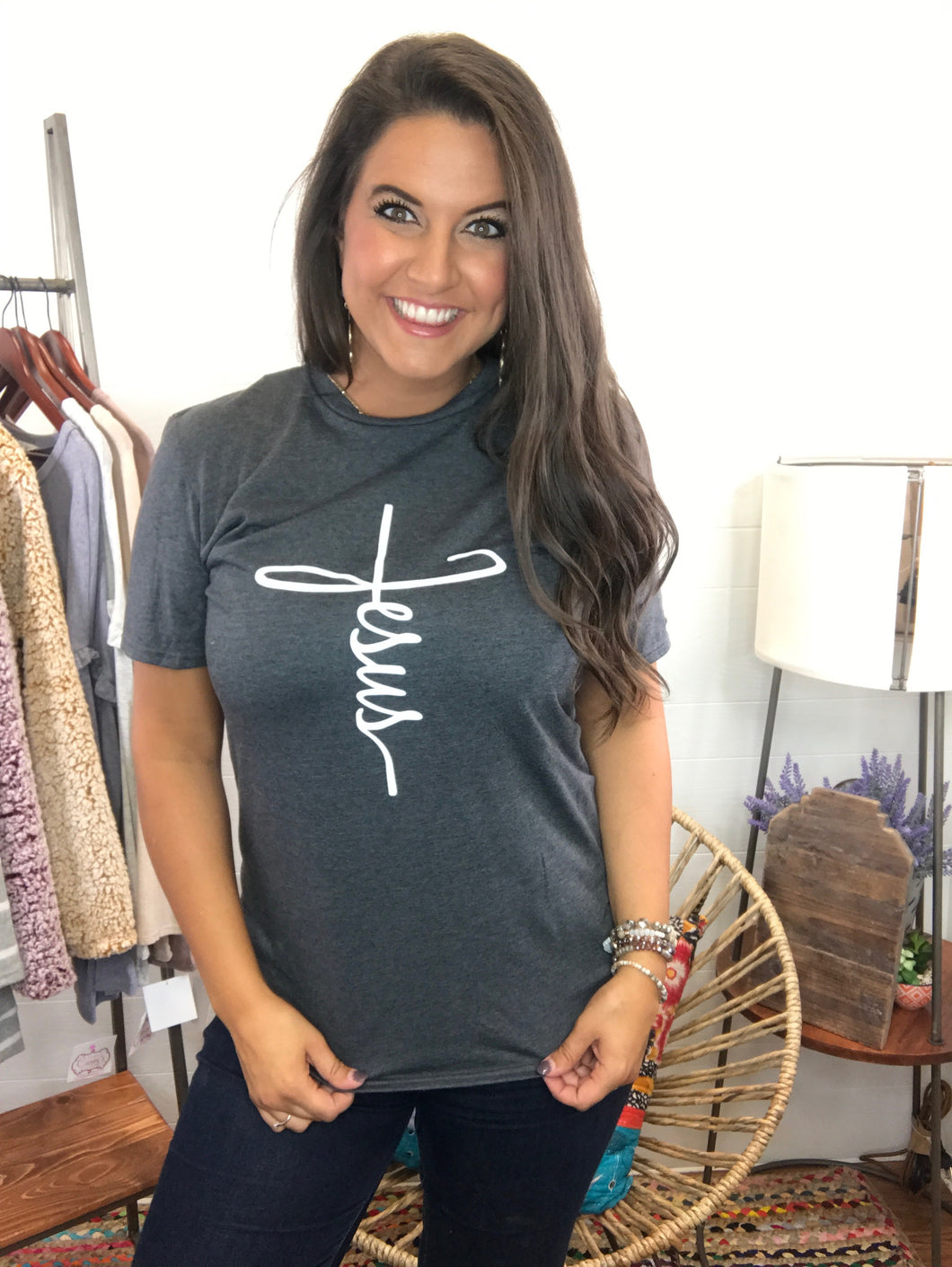 Cross & Jesus Graphic Tee