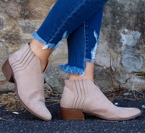 Promise Me- Taupe Bootie