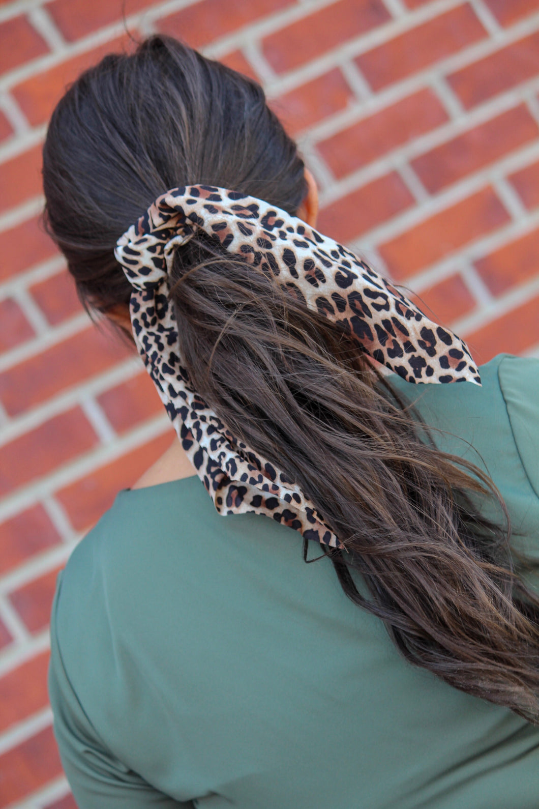 Leopard Hair Scrunchie