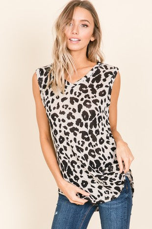 Might As Well Leopard Top