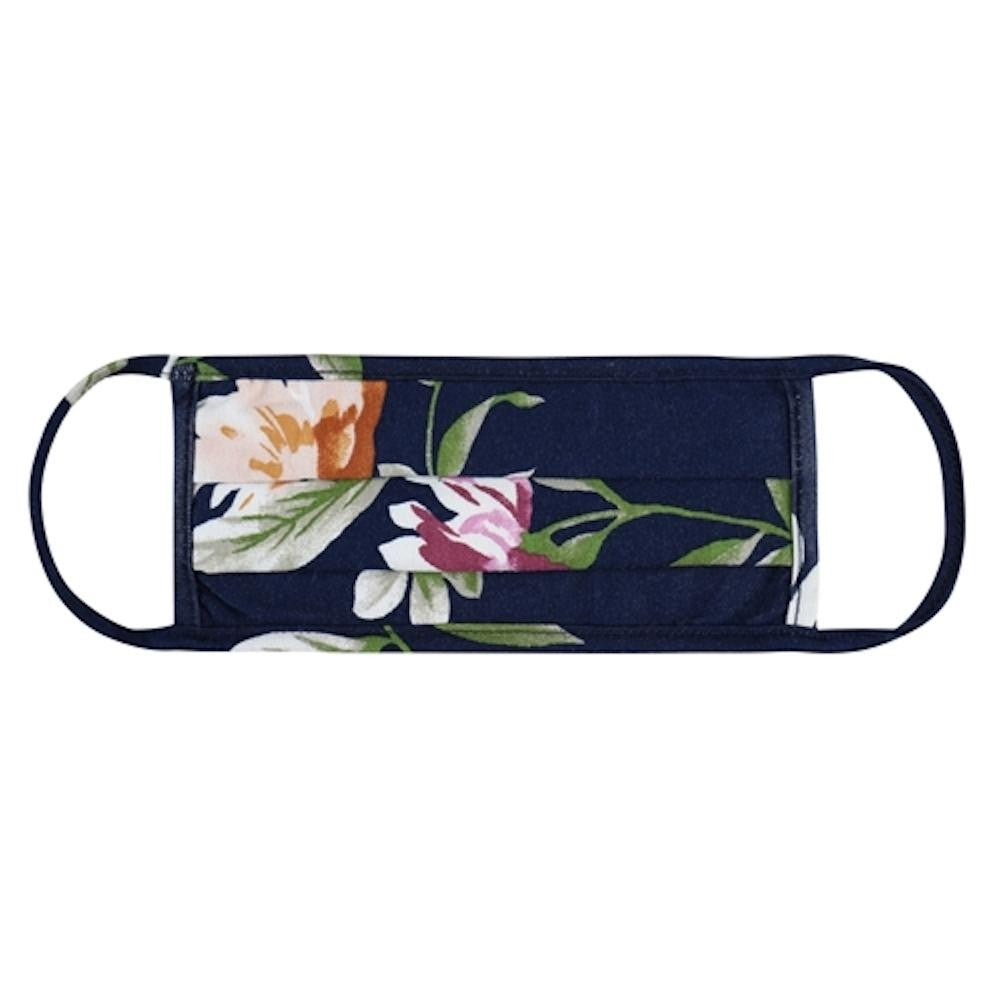 Mask - Navy Base Floral