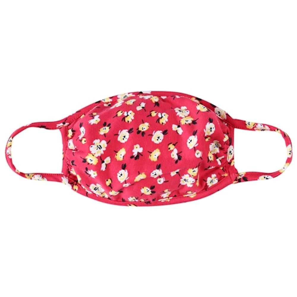 Mask - New Red Floral (Adult)