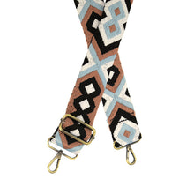 "Load image into Gallery viewer, JOY Guitar Strap - 2"" Brown/Blue"