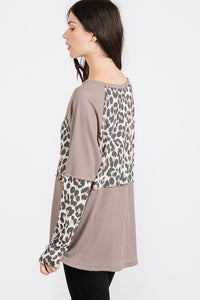 Tina Leopard Top