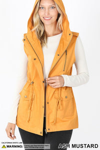 All You Need Hooded Cargo Vest