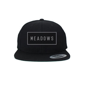 The Meadows Box Logo Black Snapback