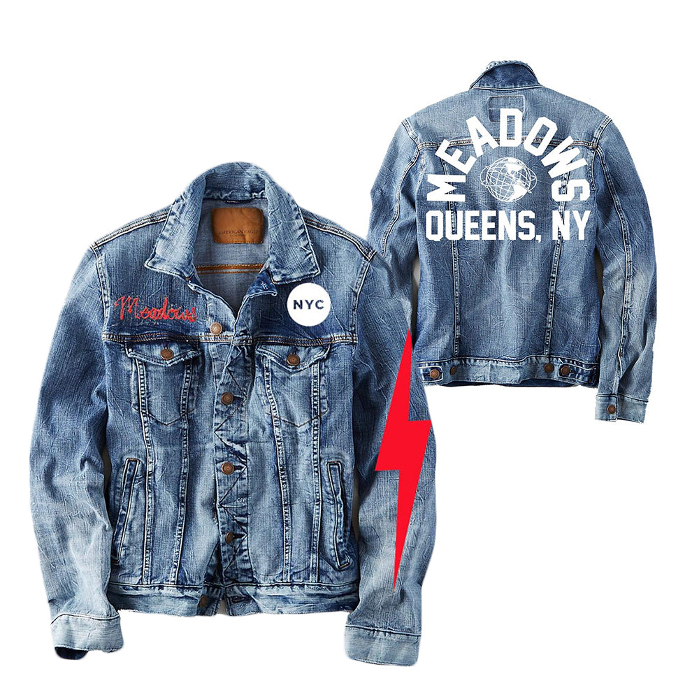 The Meadows Distressed Denim Jacket