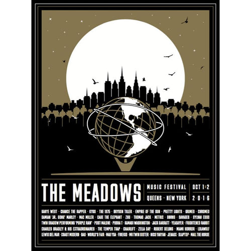 The Meadows 2016 Black and Gold Event Poster