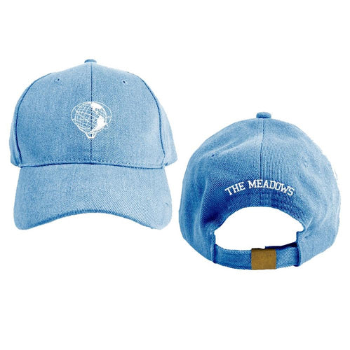 The Meadows Globe Logo Denim Dad Hat