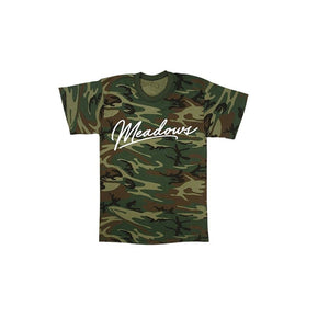 The Meadows Script Logo Camo Tee