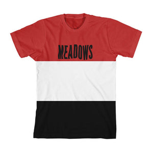 The Meadows Wave Logo Stripe Tee