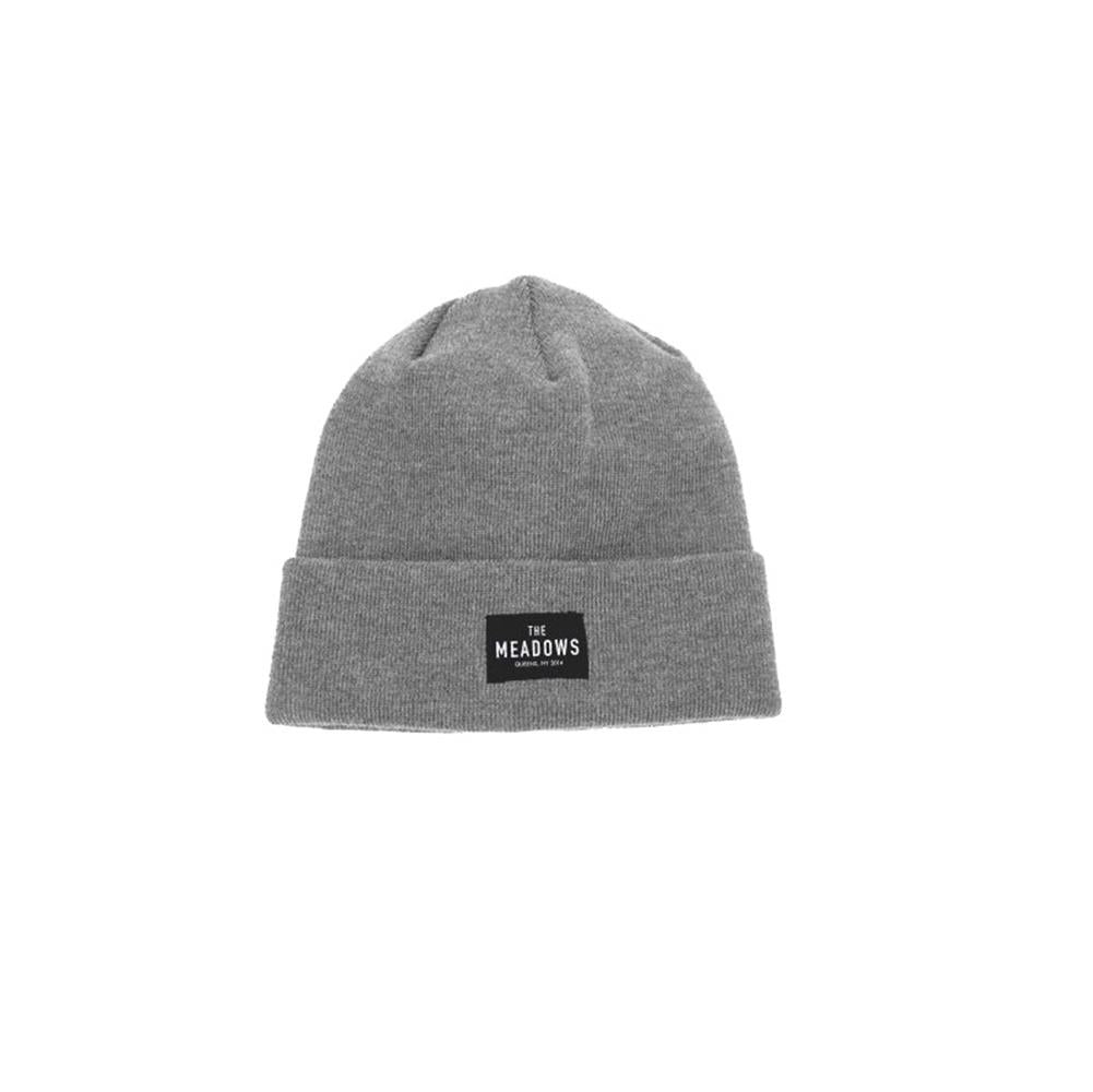 The Meadows Patch Heather Grey Beanie