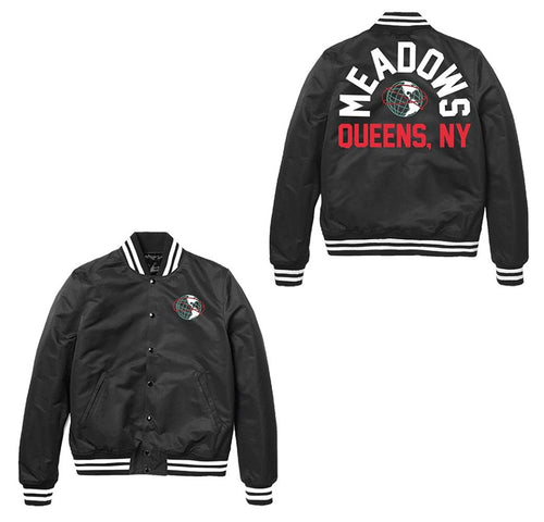 The Meadows Queens, NY Black Bomber Jacket