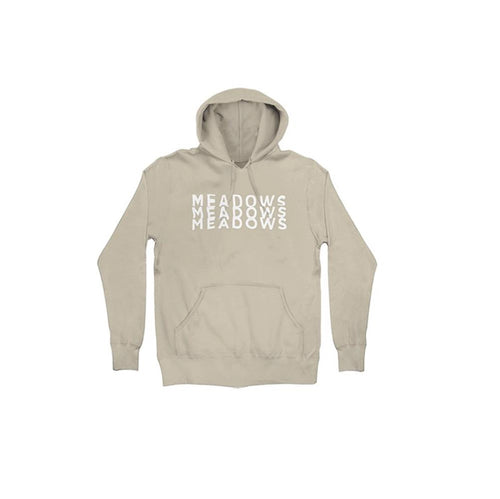 The Meadows Stacked Logo Sand Pullover Hoodie
