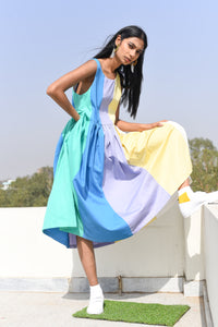 Rainbow Babydoll Dress
