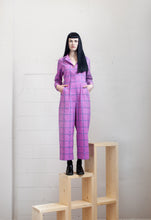 Day Suit, Purple Grid