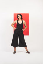 Maggie Jayne Clothing  Warm Weather Collection Hand Black Organic Cotton  Playsuit ethically made in India