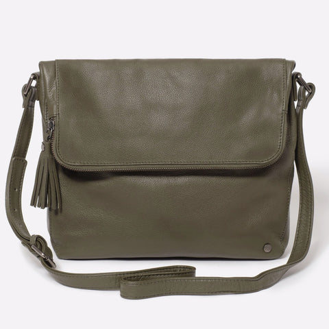 Stitch & Hide Alexa Satchel Bag - Olive