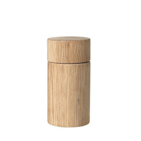 Short Salt or Pepper Grinder in Natural Oak