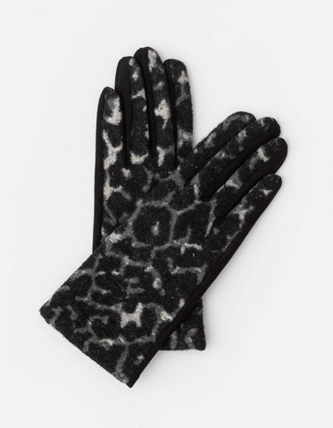 Black Leopard Gloves